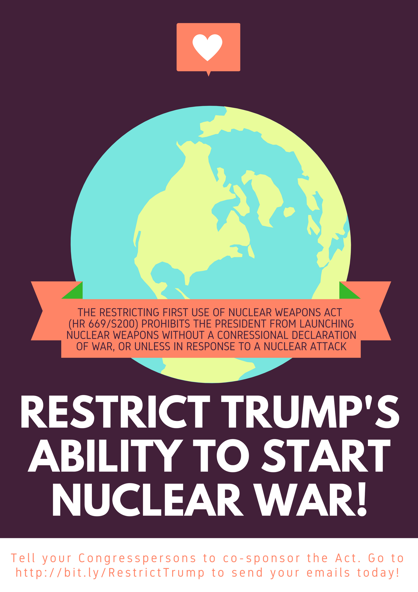 Restrict Trumps Ability to Start Nuclear War Flyer