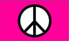 Peace Pink Standard Flag